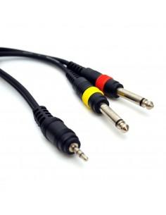 Cablu profesional JACK (3,5mm) - 2xJACK (6,3mm) - 1,5m