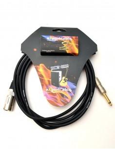 Cablu JACK Mono(6,3mm) - XLR tata - 3m