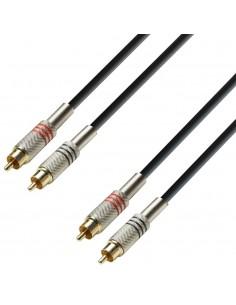 Cablu 2xRCA - 2xRCA - 6m