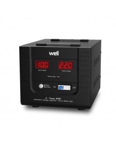 Stabilizator de tensiune Well AVR-SRV-3000VA-WL, 3000VA / 1800W