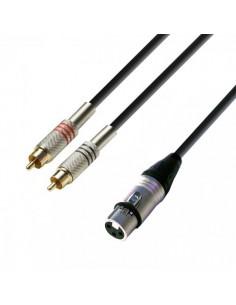 Cablu 2xRCA - XLR mama 6m