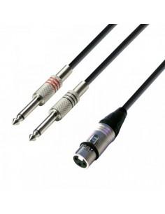 Cablu 2xJACK - XLR mama 6m