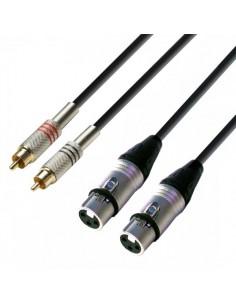 Cablu 2xRCA - 2xXLR mama 6m