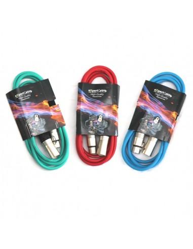 Pachet cabluri XLR XLR 1m multicolor