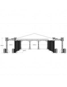 Scena concerte 28m x 14m x 8m